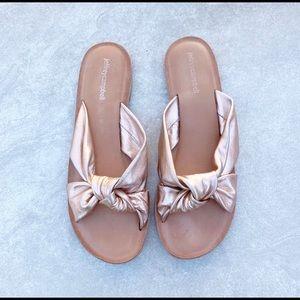 Jefferey Campbell Rose Gold Sandals